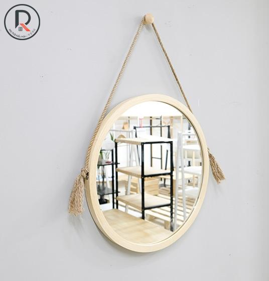 MIA CIRCLE MIRROR D50 GỖ