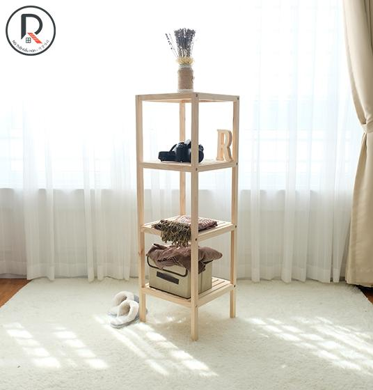 SHELF 4F GỖ